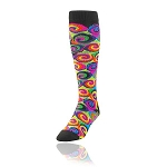 Twin City Neon Swirls Knee High Socks