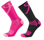 Breast Cancer Awareness Ribbon Crew Socks by Twin City - Aware
