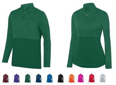 1/4 Zip Pullover by Augusta (Shadow Tonal Heather)
