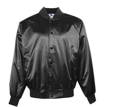 Full Button Jacket by Augusta - Satin Solid Black