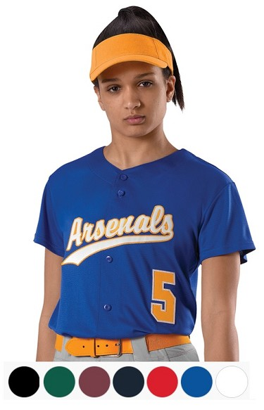 Women's Faux Front Fastpitch Jersey by Alleson