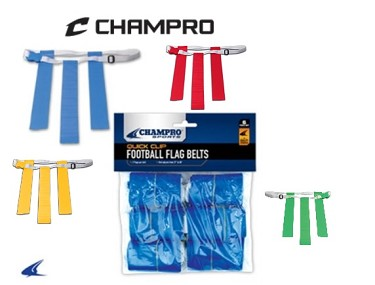 Quick-Clip Adjustable Flag Belt by Champro (Package of 6 belts)