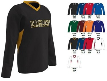 Long Sleeve Shooter Jersey by Champro - Key