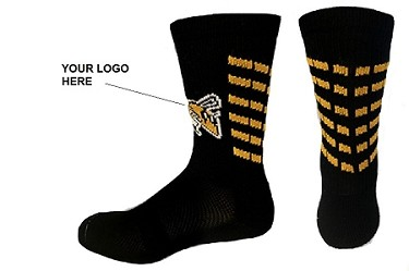 Custom Elite Crew Socks with Logo by Pearsox (#1016-Logo)