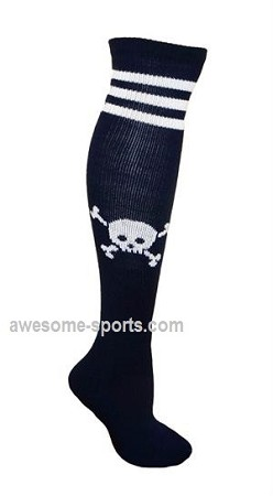 Custom Knee High Socks by Pearsox - Skull (PCSKULLB)