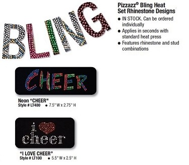 Pizzazz Bling Heat Set Rhinestone Designs Cheer (Style 4)