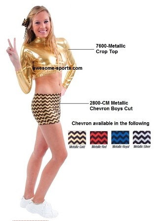 Cheer and Dance Briefs by Pizzazz - Metallic Chevron