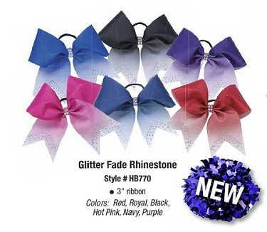 Hair Bows by Pizzazz - Glitter Fade Rhinestone