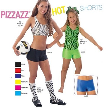 Spandex Hot Shorts by Pizzazz