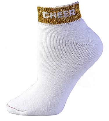 "Cheer Anklet Socks by Pizzazz ""Cheer"""