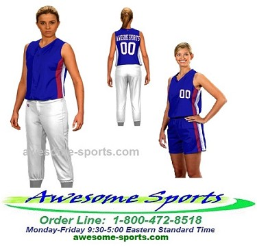 Custom Softball Uniforms  by Prosphere Sublimated (Side Light)
