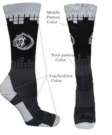Custom Crew Socks with Logo by Twin City - Frequency