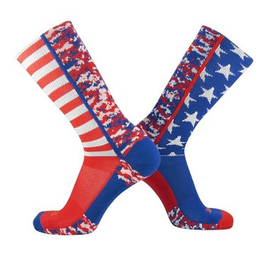 USA Flag Crew Socks by Twin City - Camo Closeout