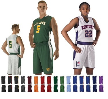 Reversible Basketball Uniforms by Alleson Single Ply