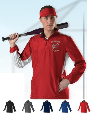 Pullover Long Sleeve by Alleson  - 1/4 Zip Batters Women