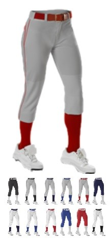 Softball Pants by Alleson - Belted Piped  #625PB