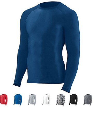 Compression Long Sleeve Shirts by Augusta