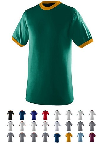 Short Sleeve T-Shirts by Augusta - Ringer