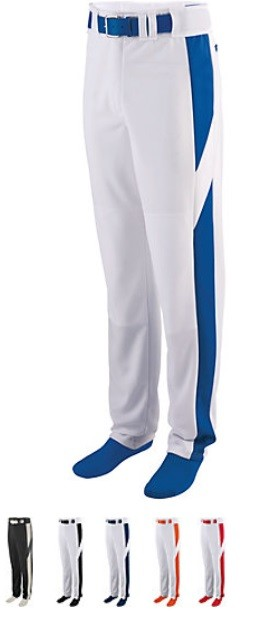 Augusta 11 oz Series Color Block Baseball Pants (open bottom) Closeout