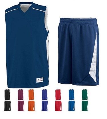 Augusta Slam Dunk Reversible Basketball Uniforms Jersey and Short Closeout