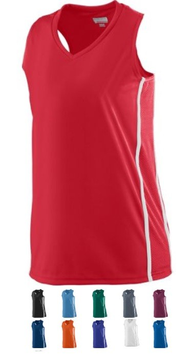 Augusta Winning Streak Racerback Jersey Ladies/Girls