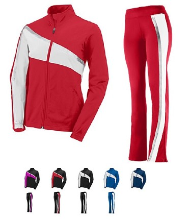 Aurora Warm Up Jacket and Pant by Augusta  -  Ladies/Girls Closeout