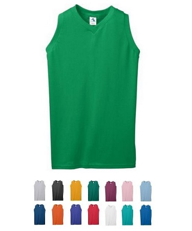 Sleeveless Ladies/Girls' Shirt by Augusta V-Neck
