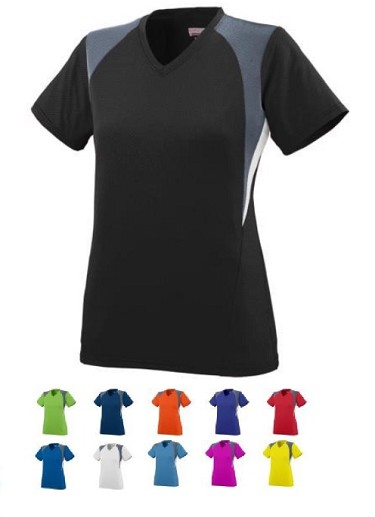 Short Sleeve V-Neck Jersey by Augusta - Mystic Closeout