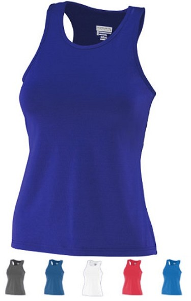 Racerback Tops by Augusta - Poly/Spandex Solid