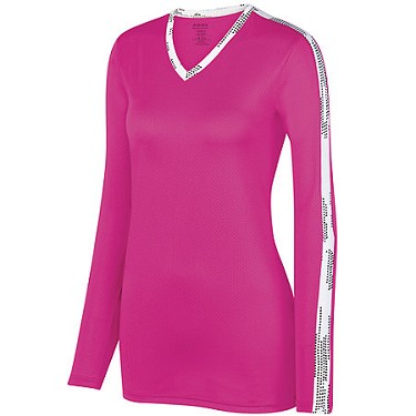 Augusta Ladies Pink Vroom Jersey  -CLOSEOUT