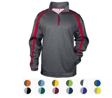 Pullover Long Sleeve by Badger - 1/4 Zip by Fusion