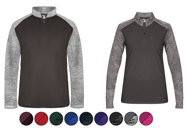 Quarter Zip Pullover Warmup by Badger - Sport Tonal Blend