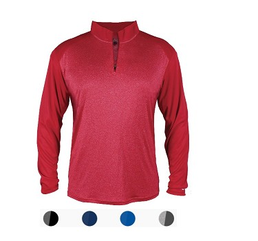 Badger 1/4 Zip Sport Heather Tonal Pullover Closeout