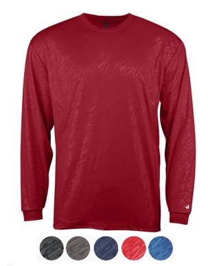 Long Sleeve Shirt by Badger Line Embossed