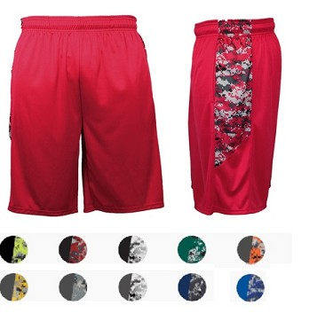 Badger Digital Camo Panel Shorts