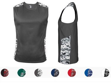 Sleeveless Tee by Badger - Digital Battle Fitted -CLOSEOUT