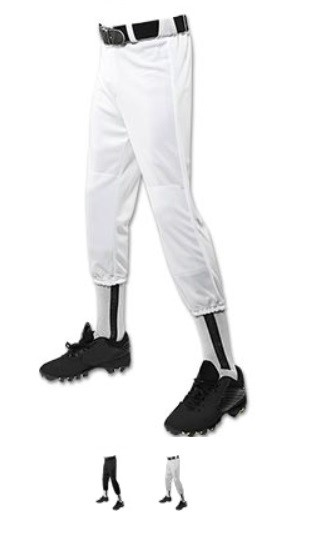 Pull Up Baseball/Softball Pants w/Belt Loops by Champro Looper Performance