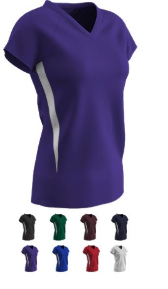 Cap Sleeve Top by Champro - Spike - V-Neck