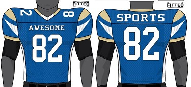 Champro Juice Custom Sublimated Football Jerseys (Blaze)