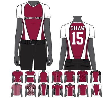Custom Juice Women/Girls' Sublimated V-Neck Jerseys