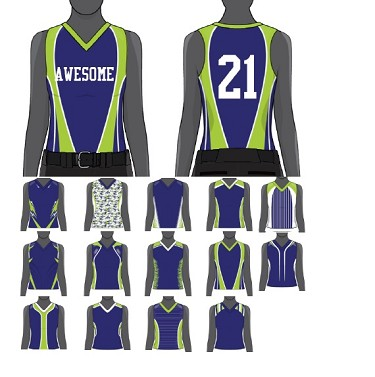 Custom Modified Racerback Jersey Sublimated  by Champro Women/Girls'