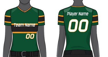 Custom V-Neck Jerseys Sublimated by Champro - Women/Girls' (Throwback)
