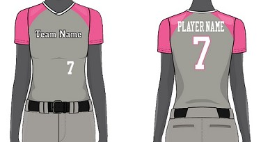 Custom V-Neck Jerseys Sublimated by Chamro - Women/Girls' (Curve)