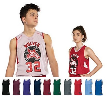 Reversible Basketball Jersey By Holloway - Dual-Side Single Ply