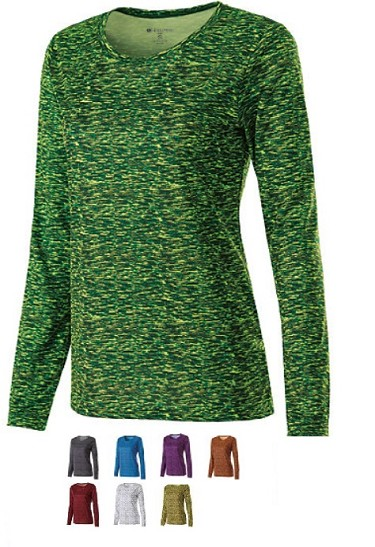 Holloway Long Sleeve Space Dye Ladies-CLOSEOUT