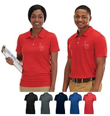 Holloway Striated Men/Women Polo Shirts Closeout