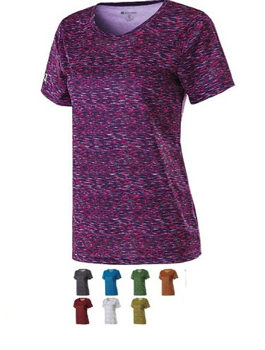 Holloway Short Sleeve Space Dye Ladies Shirt-CLOSEOUT
