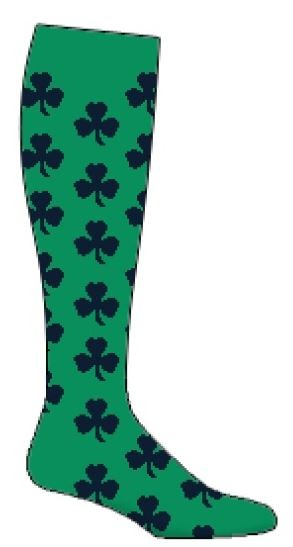 Custom Knee High Socks by Pearsox - Three or Four Leaf Clover (PCLOVER)