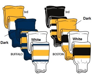 Hockey Socks - Buffalo or Boston by Pearsox Pro Weight
