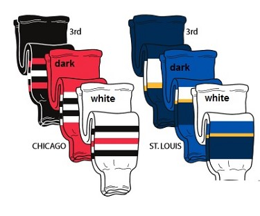 Hockey Socks - Chicago or St. Louis by Pearsox Pro Weight